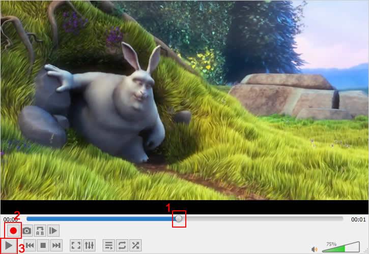 Posicionando a linha do tempo do vídeo no ponto inicial de gravação