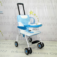 Baby Swing dan Chair Stroller Tajimaku TJM-BS203 Train 2 in One Blue