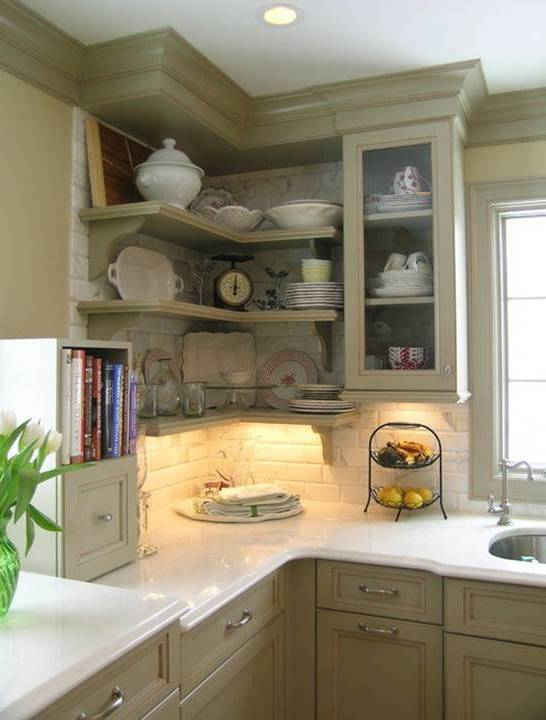 Great Corner Wall Shelves Ideas For Small Kitchens - Dwell ...
