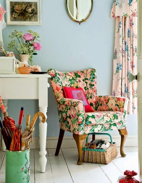 shabby chic rose chair
