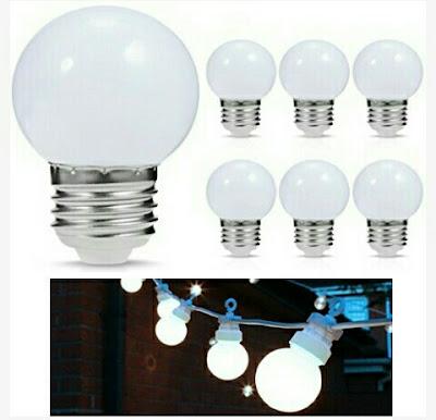 1Watt Energy Saver Bulbs - JandCase G14 LED White Lights