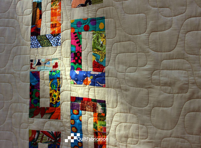 geometric quilting on the Slots quilt