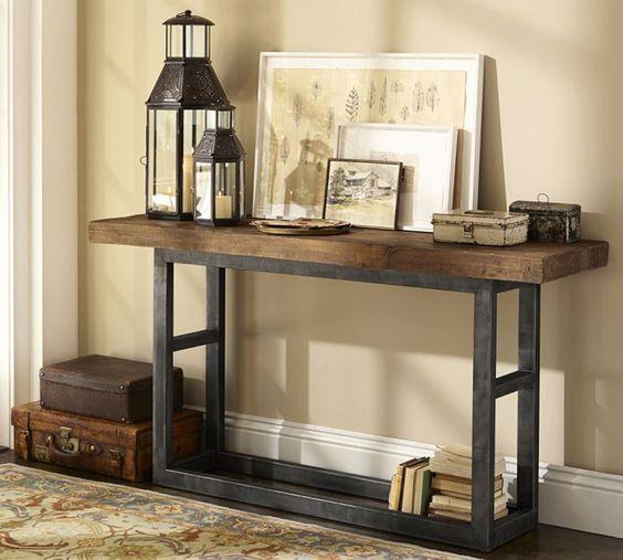 nuestra nueva coleccin de muebles estilo industrial son piezas de madera en color natural combinadas con hierro adems hemos hecho una seleccin de - Muebles Estilo Industrial
