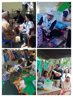 Tim Medis BAGUNA  PDIP berikan layanan kesehatan secara berkala untuk Korban Gempa di Lombok
