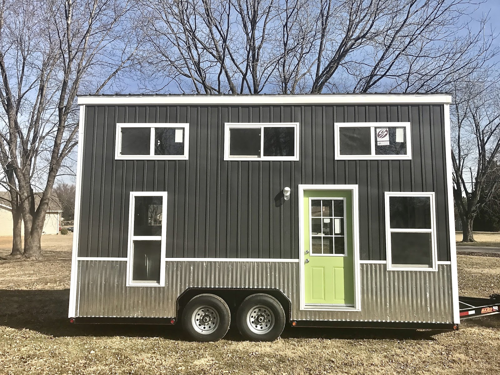 Tiny house town lime green chic shack 241 sq ft for Shack homes