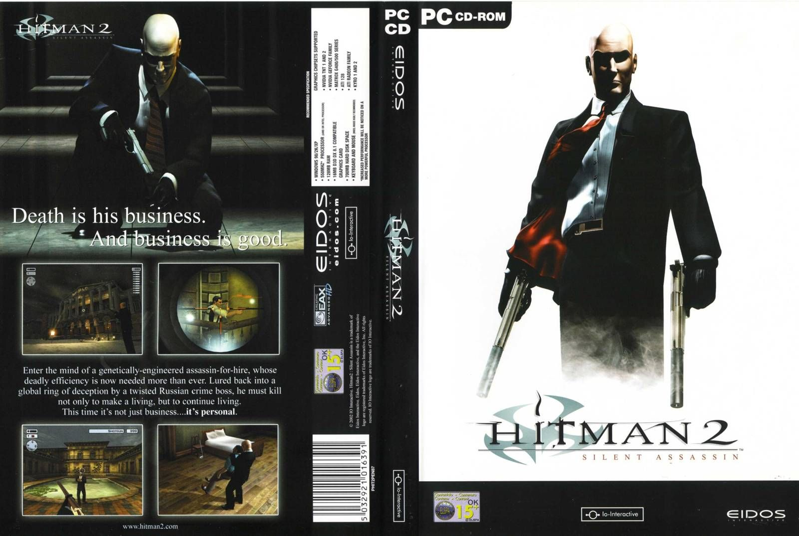 Hitman 2 Silent Assassin Highly Compressed 180 MB