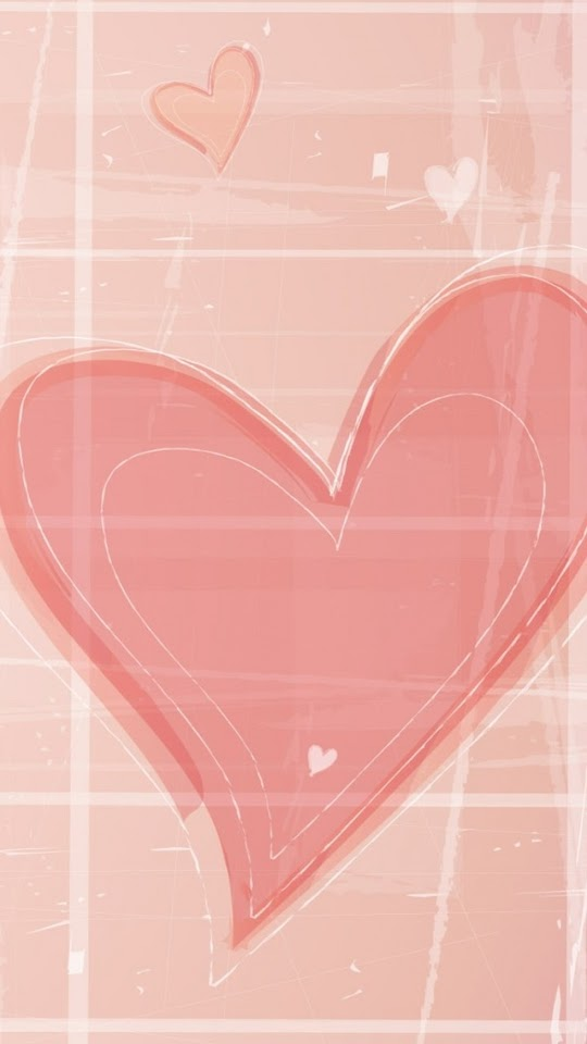Pink Hand Drawn Hearts   Galaxy Note HD Wallpaper