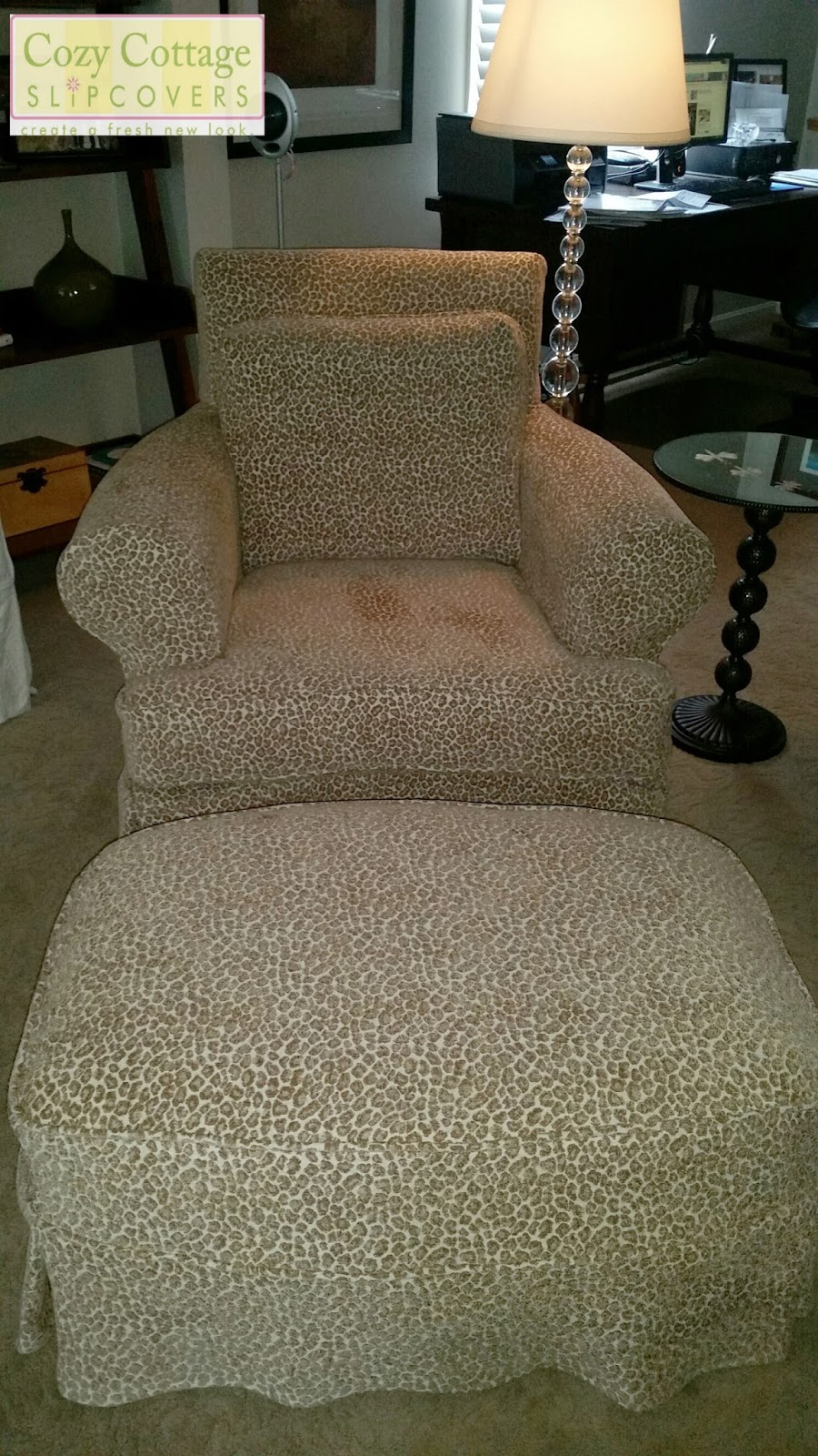 Cozy Cottage Slipcovers Leopard Animal Print Slipcover