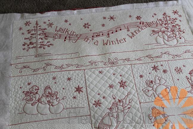 Piece N Quilt Winter Wonderland Quilt Custom Machine