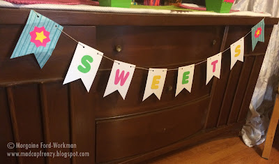 Glow in the New Year 2016 sweets table banner