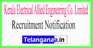 Kerala Electrical Allied Engineering Co. Limited KEL Recruitment Notification 2017