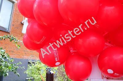 Гелиевые воздушные шары с логотипом компании BSI Group