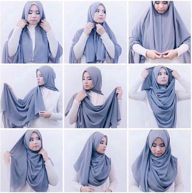 Tutorial Hijab Modern Segi Panjang Kreasi Terbaru 2015 Aneka Undangan