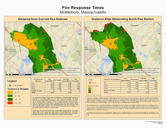 Fire Truck Response Times for the Town of Middleboro, Massachusetts