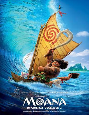 Poster Of Moana In Dual Audio Hindi English 300MB Compressed Small Size Pc Movie Free Download Only At worldfree4u.com