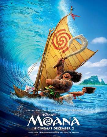 Poster Of Moana 2016 In Hindi Bluray 720P Free Download