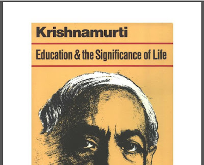 J.Krishnamurti Education and the Significance of life Download eBook in PDF