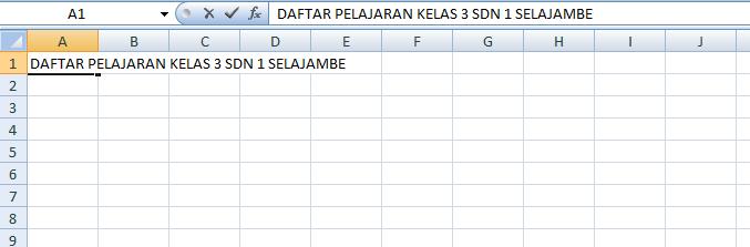 Langkah Membuat Tabel di Excel