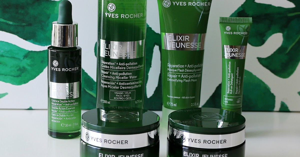 Yves Rocher Elixir Jeunesse My Anti Pollution Skincare Routine Natalie Loves Beauty