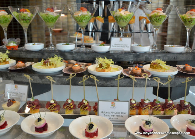appetizers at Fairmont Ajman brunch