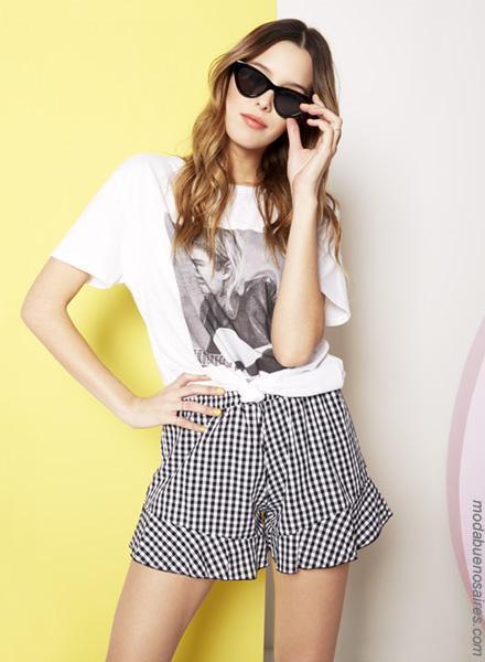 Moda primavera verano 2019 │Shorts de moda para mujer primavera verano 2019.
