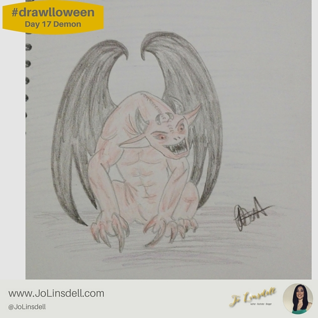 #Drawlloween Day 17 Demon #Drawing #challenge
