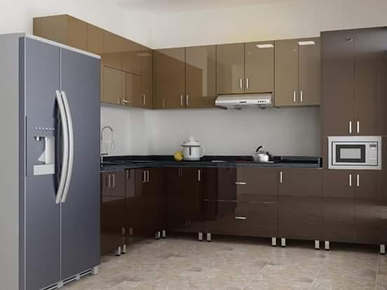 Chọn tủ bếp inox acrylic hay laminate