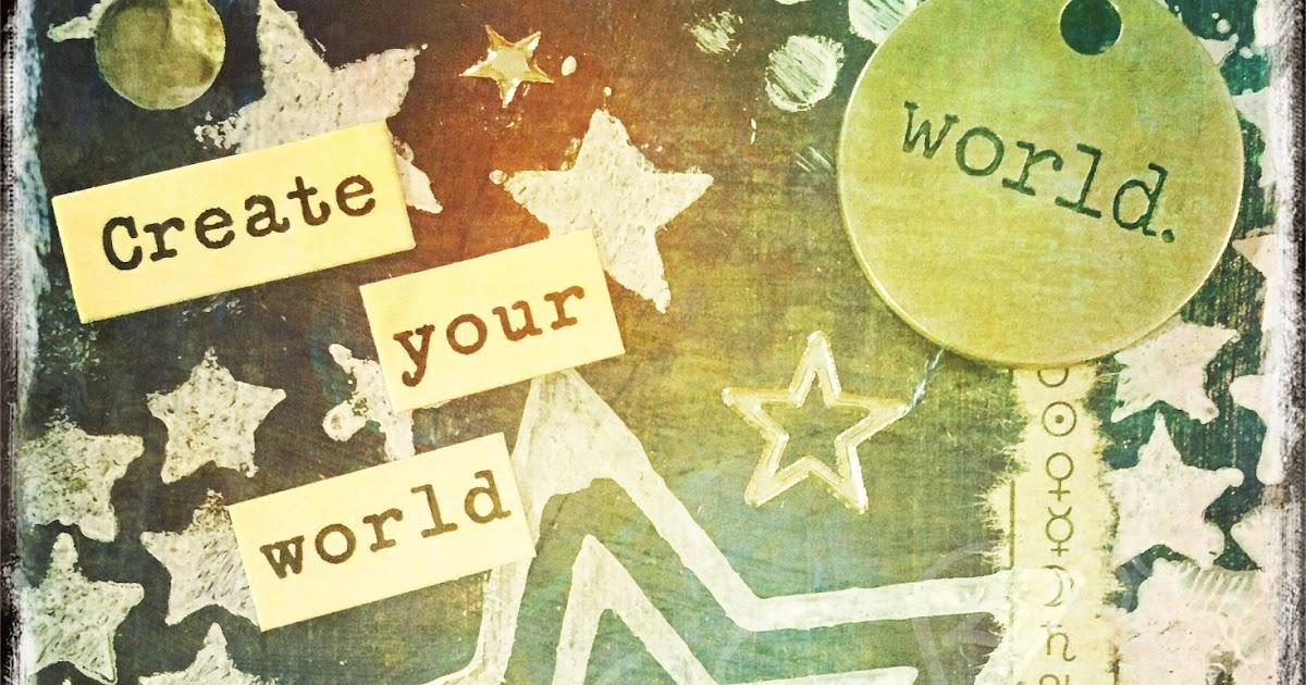 Inspirations digital art mixed media atc 34 create - Create your world ...