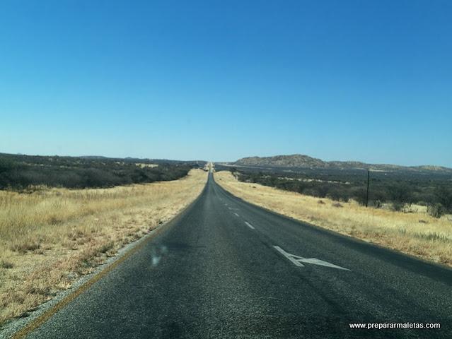 carreteras asfaltadas de Namibia