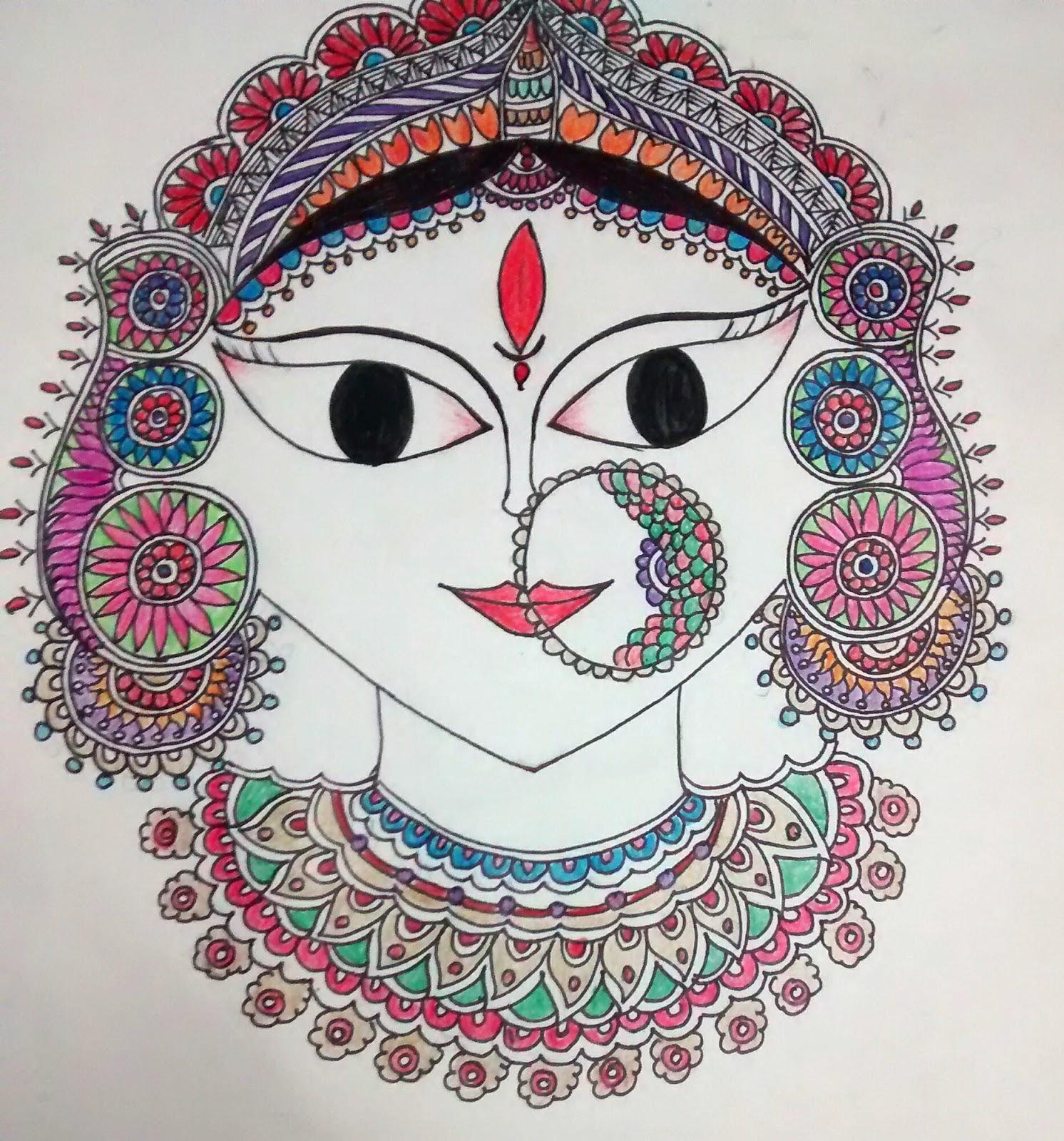 Luv For Krafts: Welcoming Maa Durga