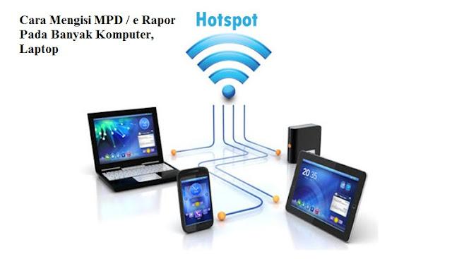 Cara Mengisi atau Mengerjakan MPD, e Rapor Pada Banyak Laptop, Komputer