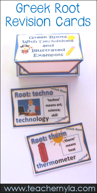 Greek Root Revision Cards