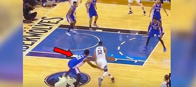 Karl-Anthony Towns Takes Joel Embiid To School With Pump Fake & Dunk (VIDEO)