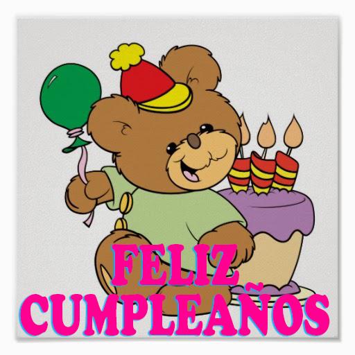 feliz cumpleaños osito