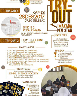 Event Pekalongan Batang | 28 Desember 2017 | Try Out USM PKN STAN IMAKABA