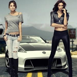 Top Beautiful Girl And Car