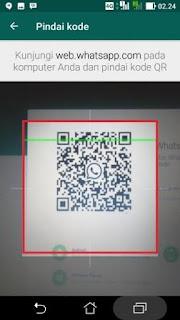 Memindai kode QR whatsapp di PC lewat android