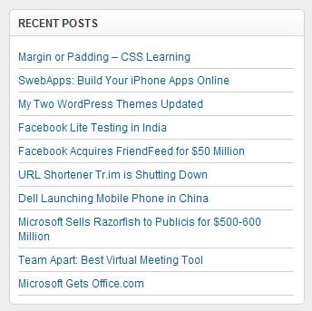 Cara membuat widget recent post / postingan terbaru di bawah posting wapblog.id
