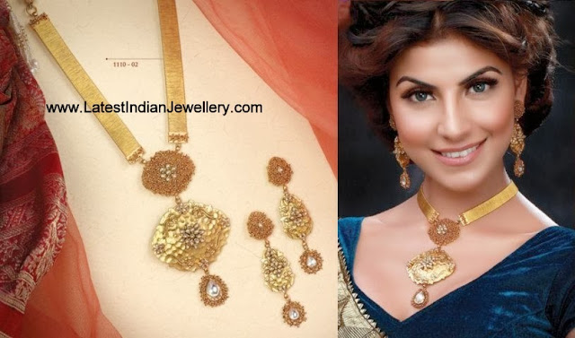 Trendy Gold Necklace Set