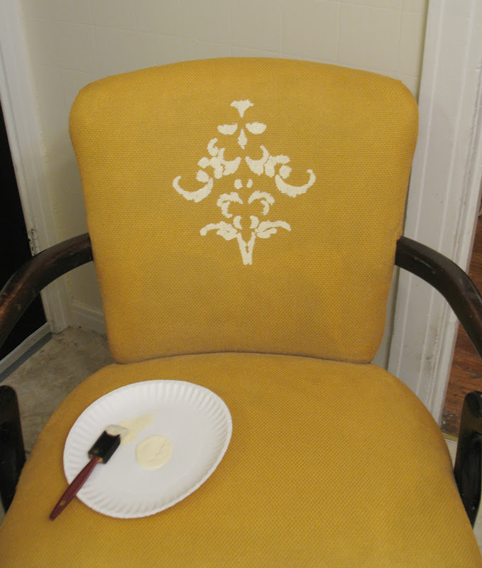 Shoestring Pavilion: The yellow painted chair
