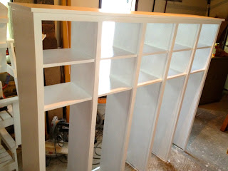 painting a mudroom locker unit