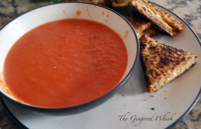 Homemade Roasted Tomato Soup - The Gingered Whisk
