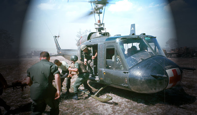 Helicopters at Vietnam War picture