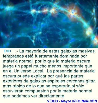 La materia oscura tenía menos influencia en el universo temprano