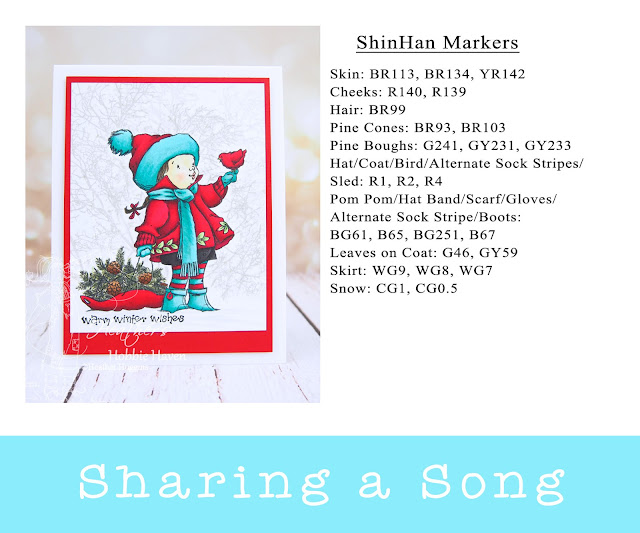 Heather's Hobbie Haven - Warm Winter Wishes - Penny Black - Sharing a Song