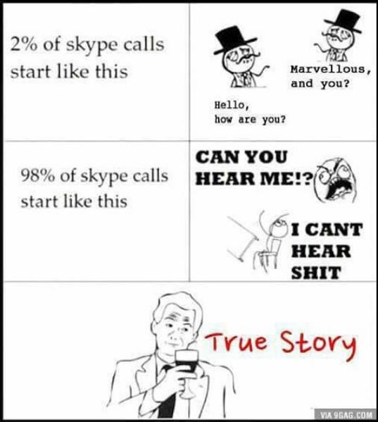 how skype calls start