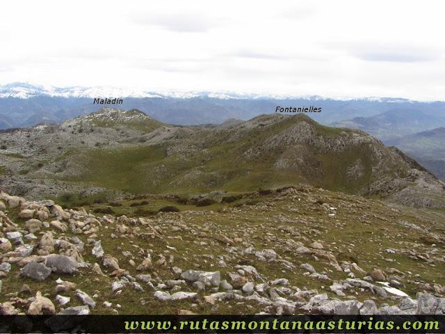 Picos Fontanielles y Maladín en el Sueve