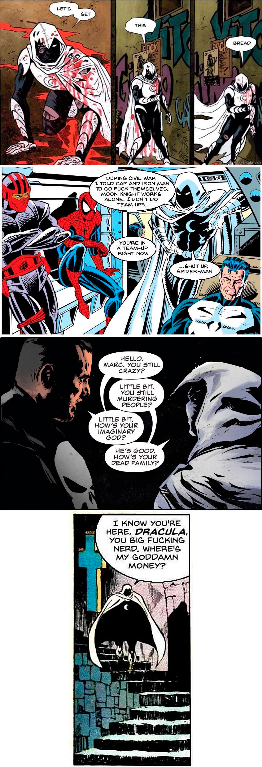 Moon Knight and Spiderman