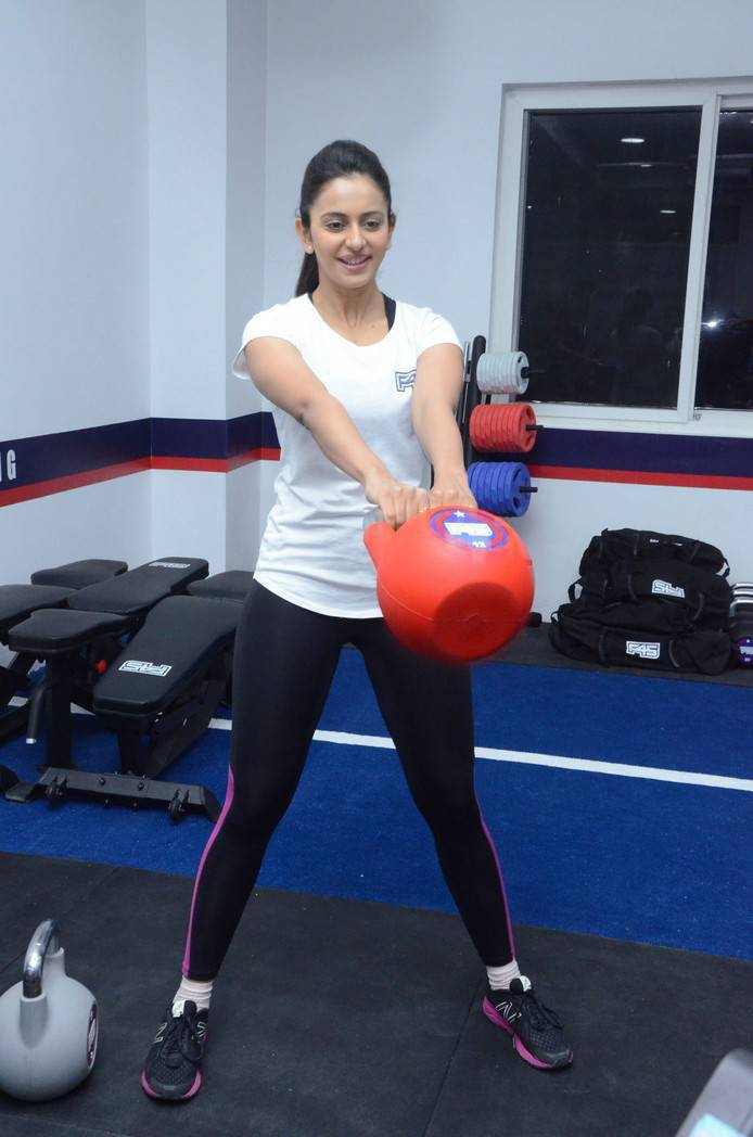 Tollywood Actress Rakul Preet Singh F45 Training Fitness Gym Photos