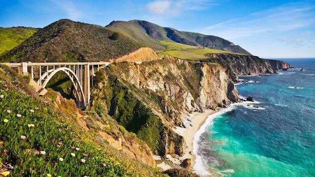 Ponte Bixby Bridge em Monterey